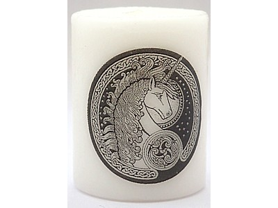 5cm Celtic Unicorn Candle