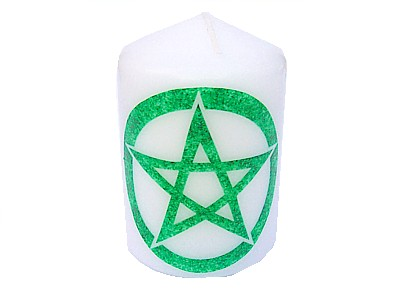 10cm Pentacle Element Candle Earth