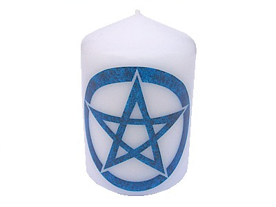 10cm Pentacle Element Candle Water