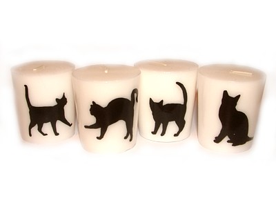 05cm Black Cat Candle A