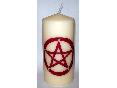 05cm Pentacle Green Candle