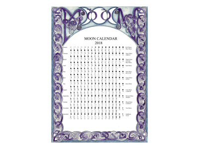 Celtic Knot Moon Calendar 2018