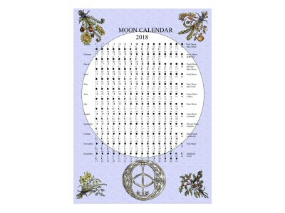 Chalice Well Moon Calendar 2018 - Click Image to Close