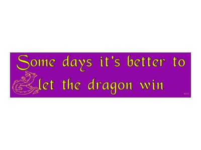 Some Days it's better to let the Dragon win Bumper Sticker
