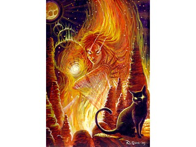 Fire Goddess Card A6