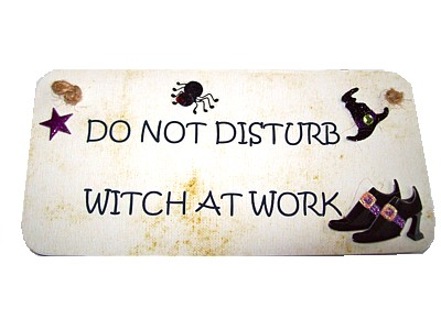 Do Not Disturb Witch at Work 3D Witchy Sign