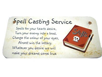 Spell Casting Service 3D Witchy Sign
