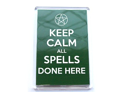 Keep Calm All Spells Cast Here Magnet