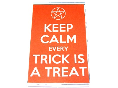 Keep Calm Every Trick is a Treat Magnet