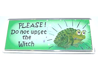 Please! Do Not Upset the Witch Magnet