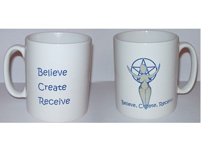Goddess Inspiration Mug, Believe, Create, Receive (Wrap)