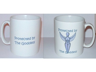 Goddess Inspiration Mug, Protected by the Goddess (Wrap