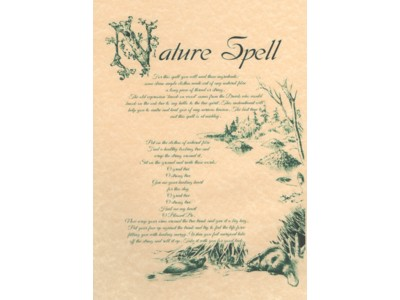 Nature Spell Poster NEW