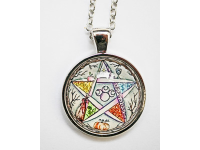 Pentagram Pendant with chain
