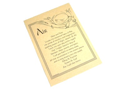 Invocation of Air Parchment Poster