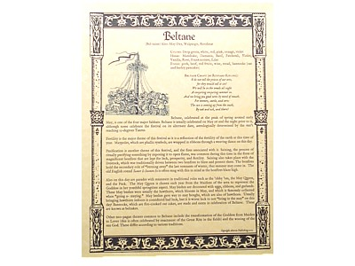 Beltane Parchment Poster