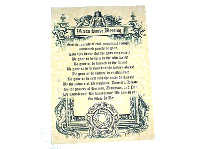 Wiccan House Blessing Poster