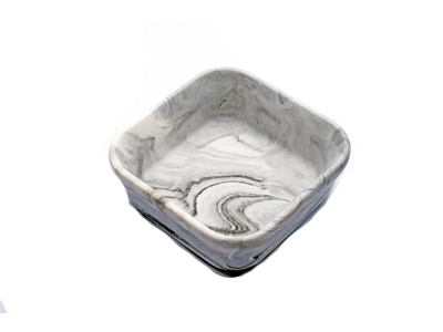 Altar Salt Tray - Black Marble