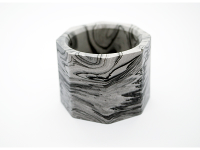 Voltive Candle Holder - Black Marble