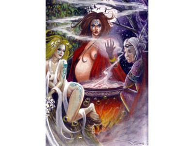 Maiden Mother Crone Card A6