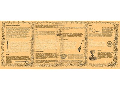 Tools for Wiccan Rituals Poster (set of 4)