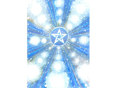 Star Bright Pentagram Card A6