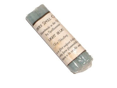 Beeswax Spell Candles Pack of 2 - Light Blue