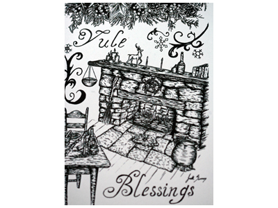 Yule Blessings A6 Card