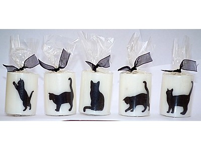 05cm Black Cat Candle B