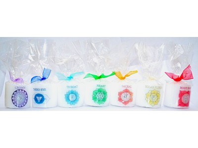 ** Set of 7 X 03.5cm Chakra Candles **
