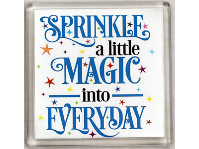10cm Coaster - Sprinkle a little Magic - Click Image to Close