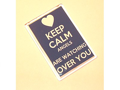 Keep Calm Angels Are Watching Over You Magnet