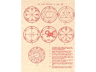 The Seven Pentacles of Mars Poster