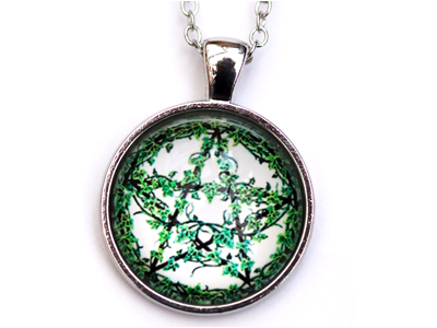 Pentagram Ivy Leaves Pendant with chain
