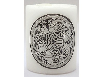 5cm Celtic Birds Candle