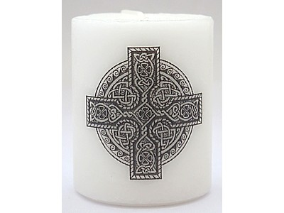 5cm Celtic Cross Infilled Candle