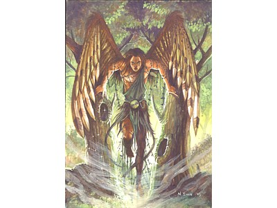 Archangel Uriel Card A6