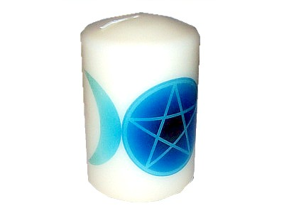 10cm Pentacle Triple Moon Candle