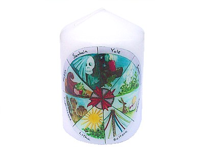 10cm Wheel of the Year Candle