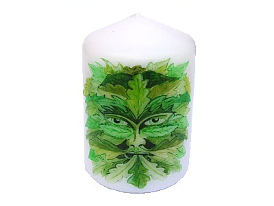 Green Man Candle NEW SIZE see description
