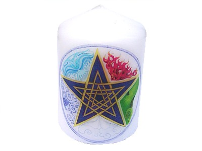 Pentagram Elements Candle NEW SIZE see description