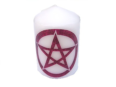 10cm Pentacle Element Candle Fire