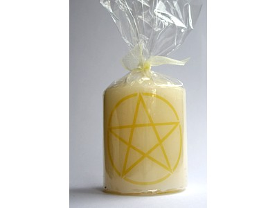 05cm Pentacle Dark Blue Candle