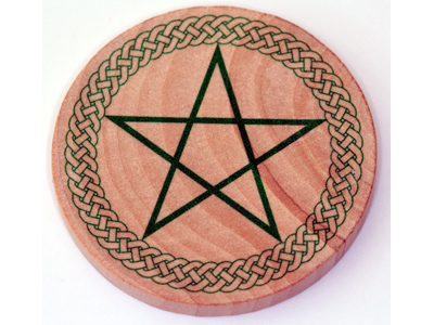 Altar Wooden Tile - Celtic Pentagram