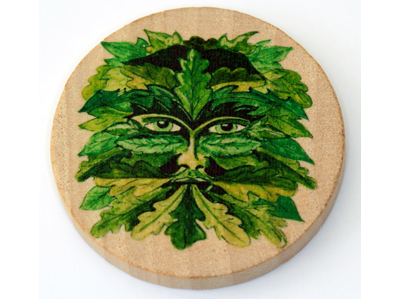 Altar Wooden Tile - Green Man