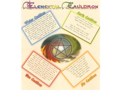 Elemental Cauldron A4 Poster