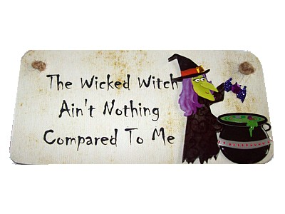 The Wicked Witch Aint Nothing Compared To Me 3D Witchy Sign