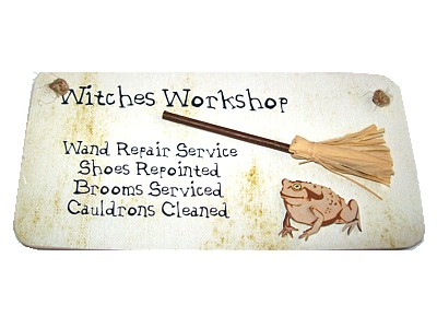Witches Workshop 3D Witchy Sign