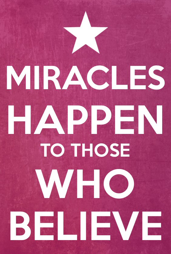 Miracles Happento those who Believe Magnet
