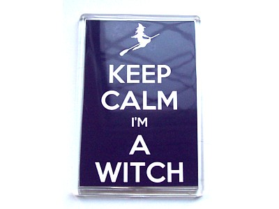 Keep Calm I'm A Witch Magnet Flying Witch